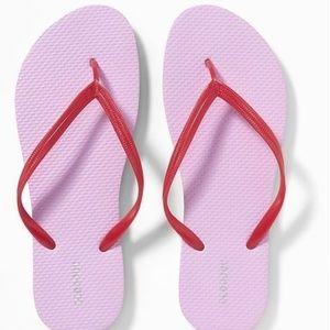 Old Navy Women's Flip Flops Red Lavender New!